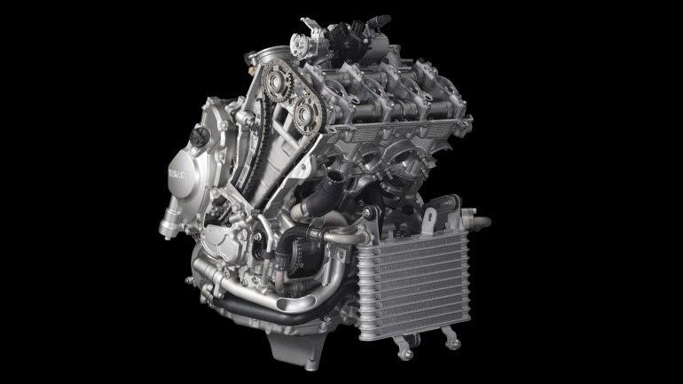 Enjin Yamaha YZF-R1 (2015) - 4 lejang, DOHC, 4 Silinder Sebaris, 200hp