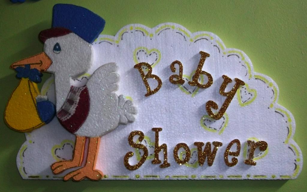 Letrero Cigueña Para Baby Shower