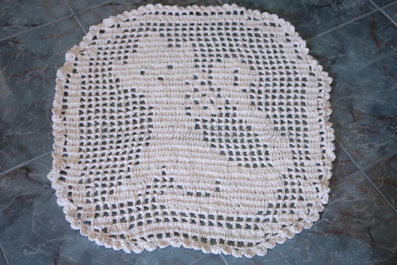 Feito à Mão: Meus Trabalhos: tapete Gatinho Em Crochê Filé #545D77 1280 853