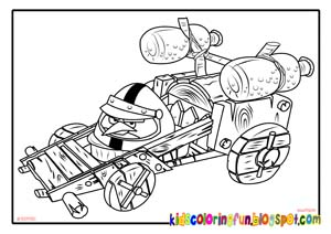 Yellow Angry Birds GO Coloring Pages | All Free Coloring ...