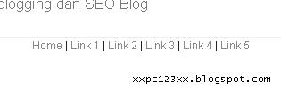 membuat menu bar teks pada blog, menu bar  teks, menu bar berbasis link