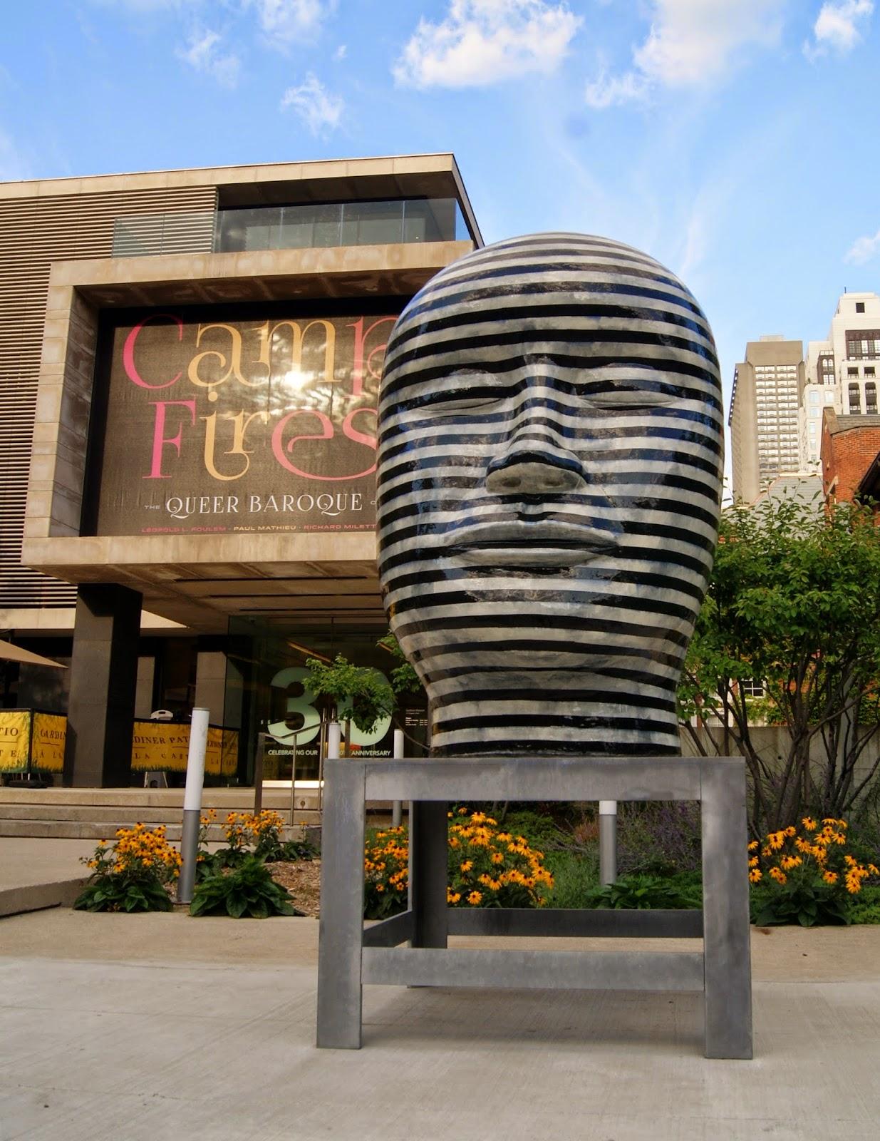 Gardiner Museum of Ceramic Art in Toronto and Untitled sculpture by Jun Kaneko, Toronto, Artmatters, Culture, Ontario, Canada, MelaniePs, The Purple Scarf, Camp Fires, Exhibit, Exhibition