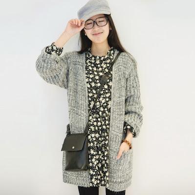 model sweater korea besar wanita rajut