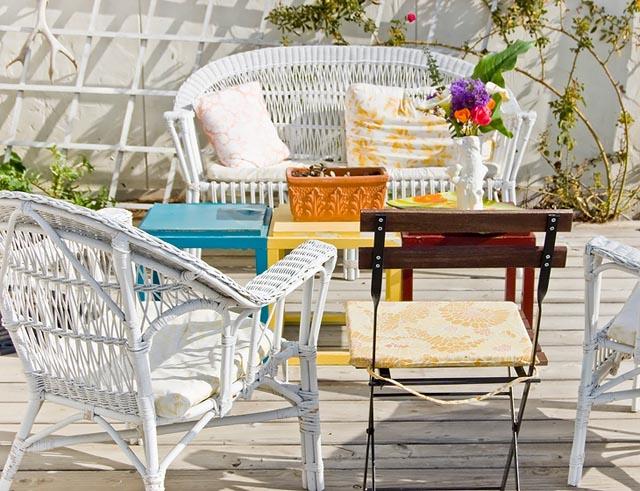 detalle muebles de jardin