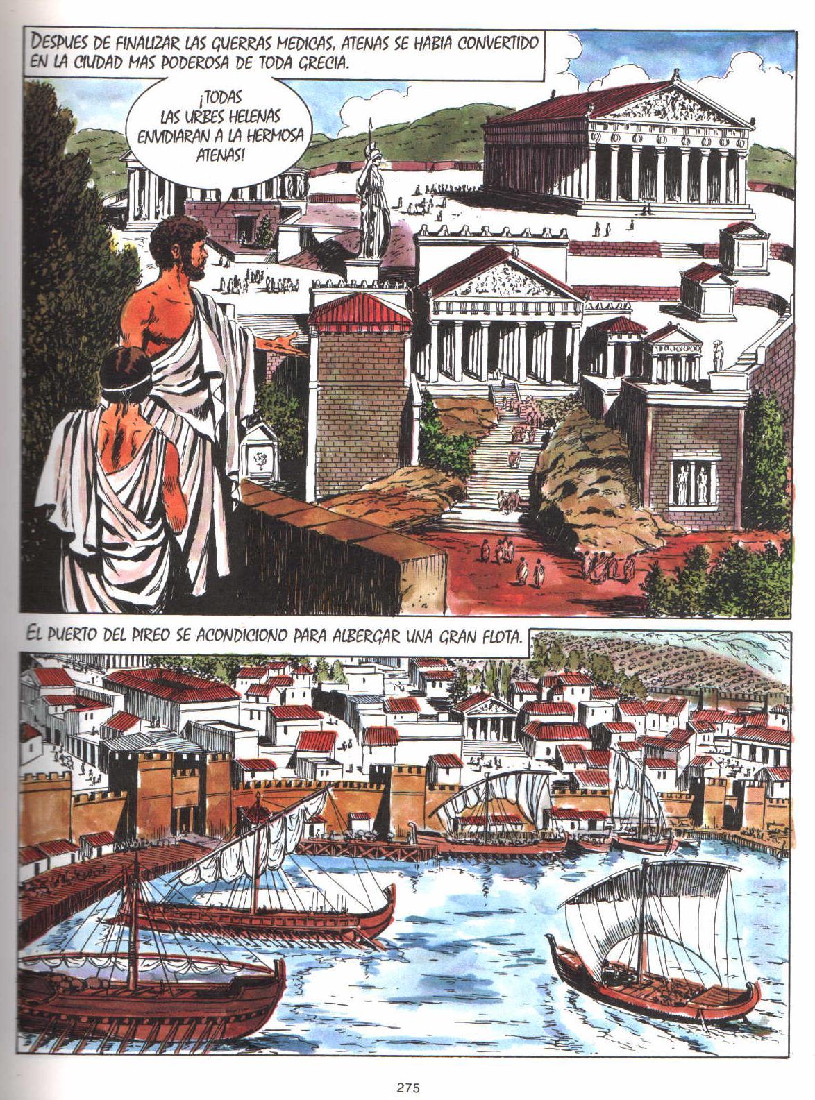 Sociales y lengua c mic historia de grecia ii for Cultura de la antigua grecia