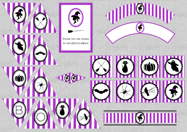 Halloween Party free printables from BistrotChic