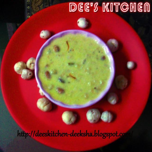 makhana kheer (lotus seed kheer)