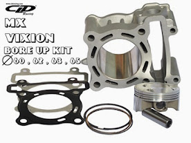 Blok MX Bore Up  CLD  60mm/800ribu, 62mm/900ribu, 63mm/1jt, 65mm/1,1jt