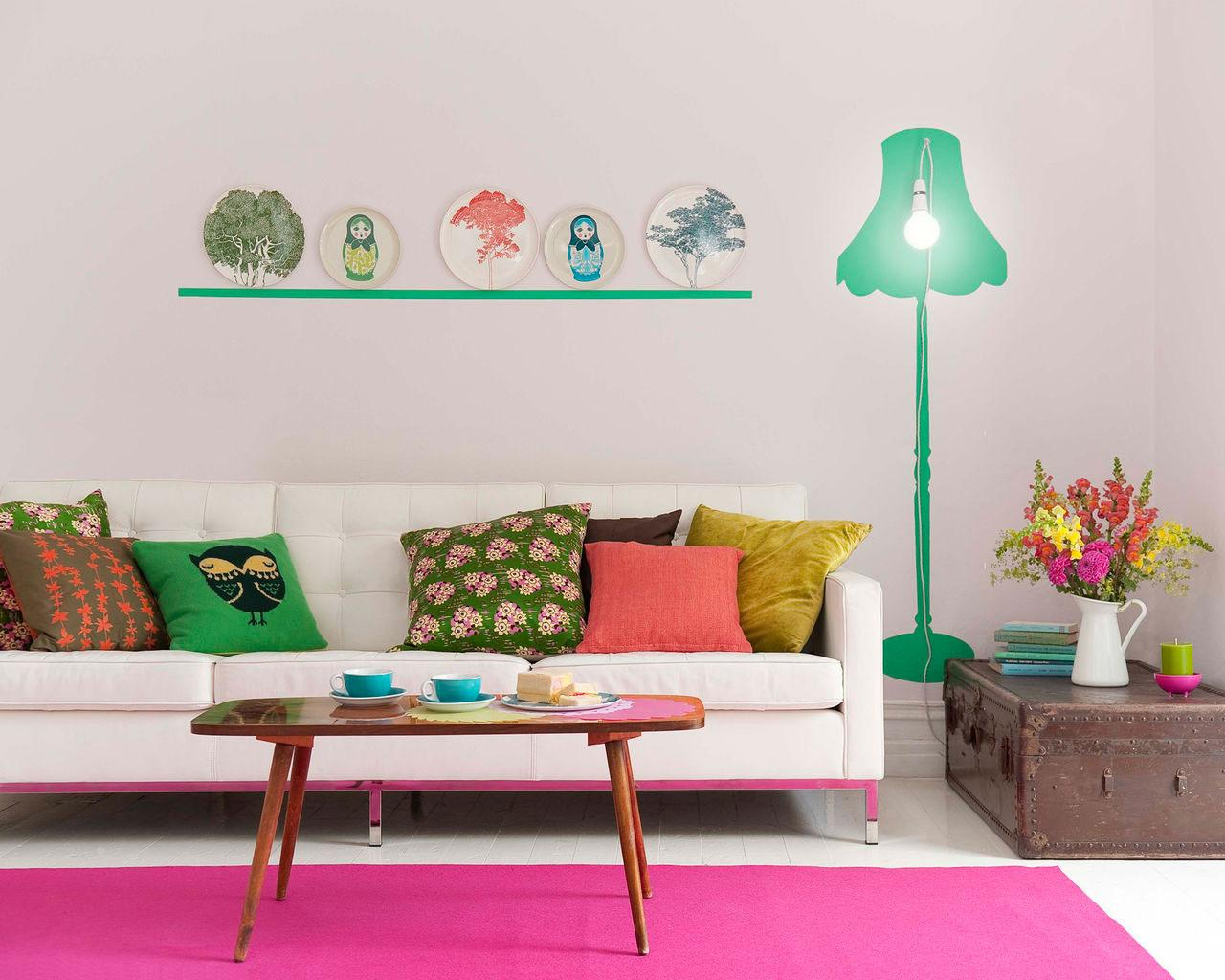 10 id es originales pour peindre son int rieur blog d co for Idee deco murale originale