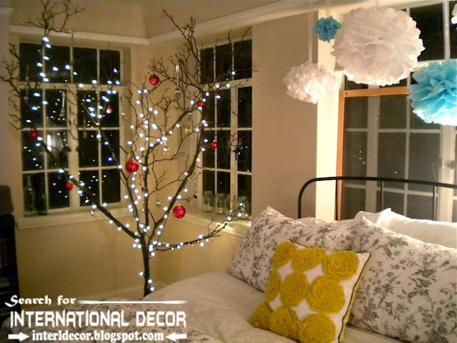 Christmas decorations for bedroom 2015 in new year, Christmas tree for bedroom