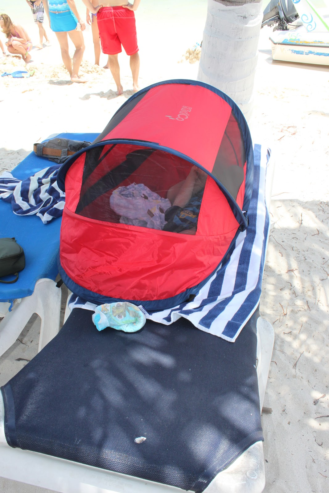 On the beach in Belize & New feature...My Favorite Things! 1st favorite thing: Kidco Peapod ...