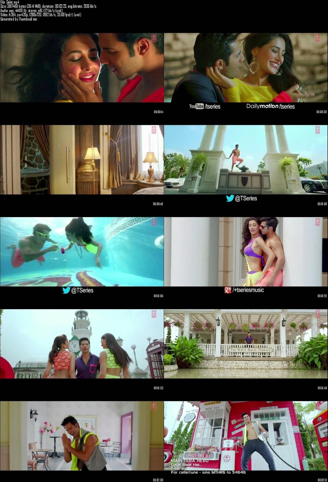 Mediafire Resumable Download Link For Video Song Galat Baat Hai - Main Tera Hero (2014)
