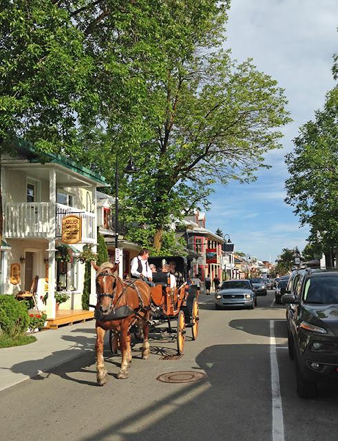 La rue Saint Jean Baptiste à Baie-Saint-Paul