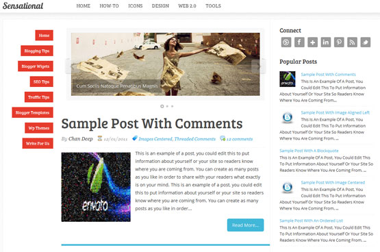 sensational responsive blogger template