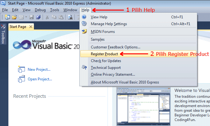 ms visual basic 2010 express registration key