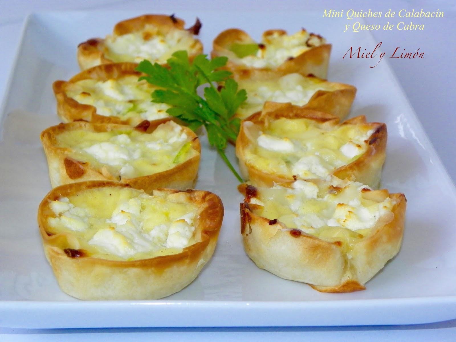 Miel y lim n mini quiches de calabac n y queso de cabra Cocinar queso de cabra
