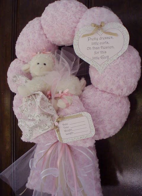 88. Precious lamb baby wreath