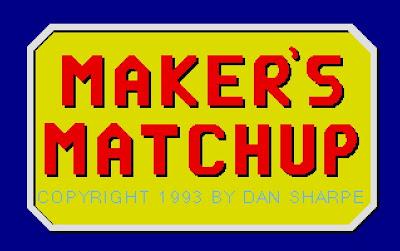 Makers Matchup