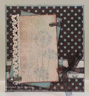 Handmade card using Basic Grey, Stmapin'Up! and Agapanthus cluster stamp