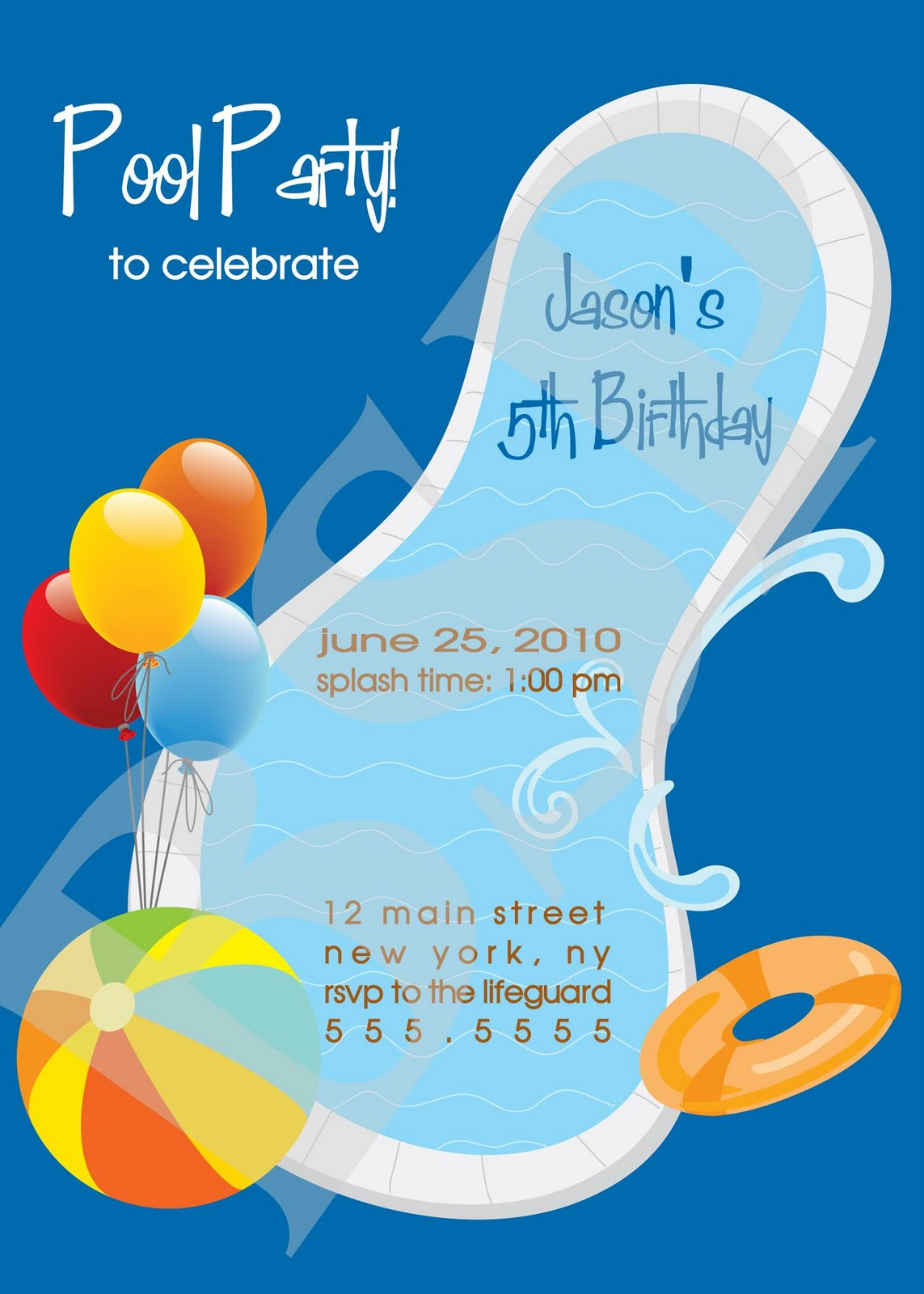 swim party invitations - Resumess.memberpro.co