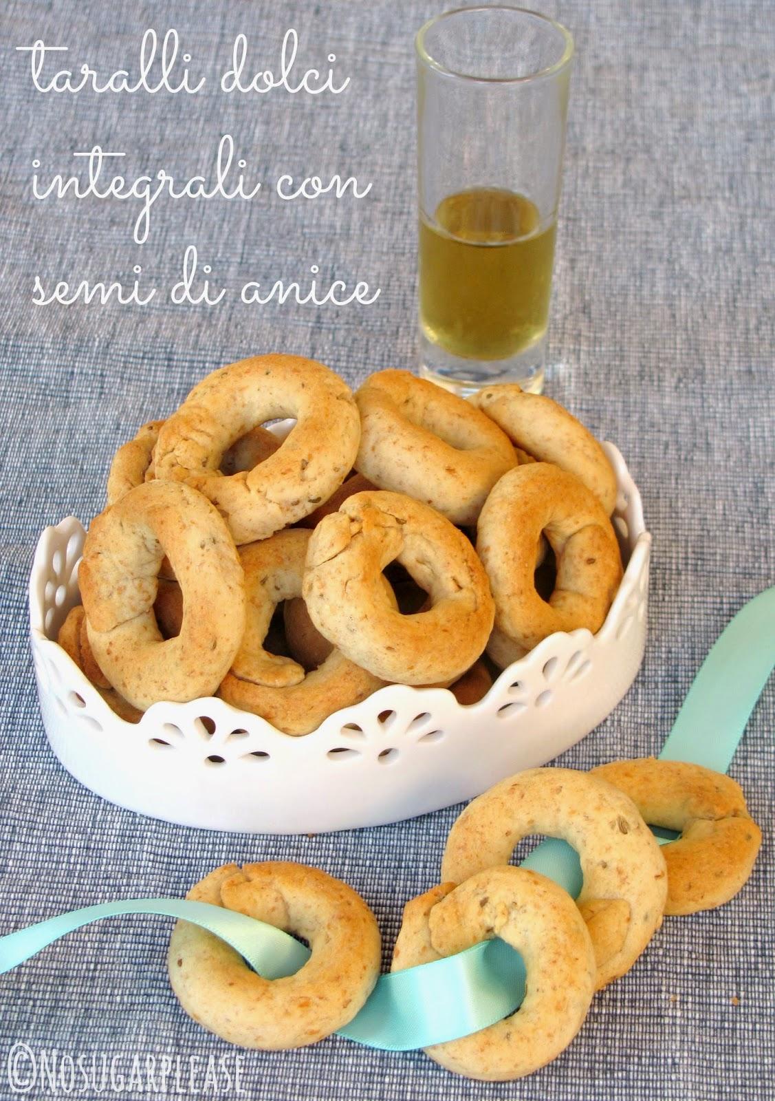 taralli dolci al vino senza zucchero
