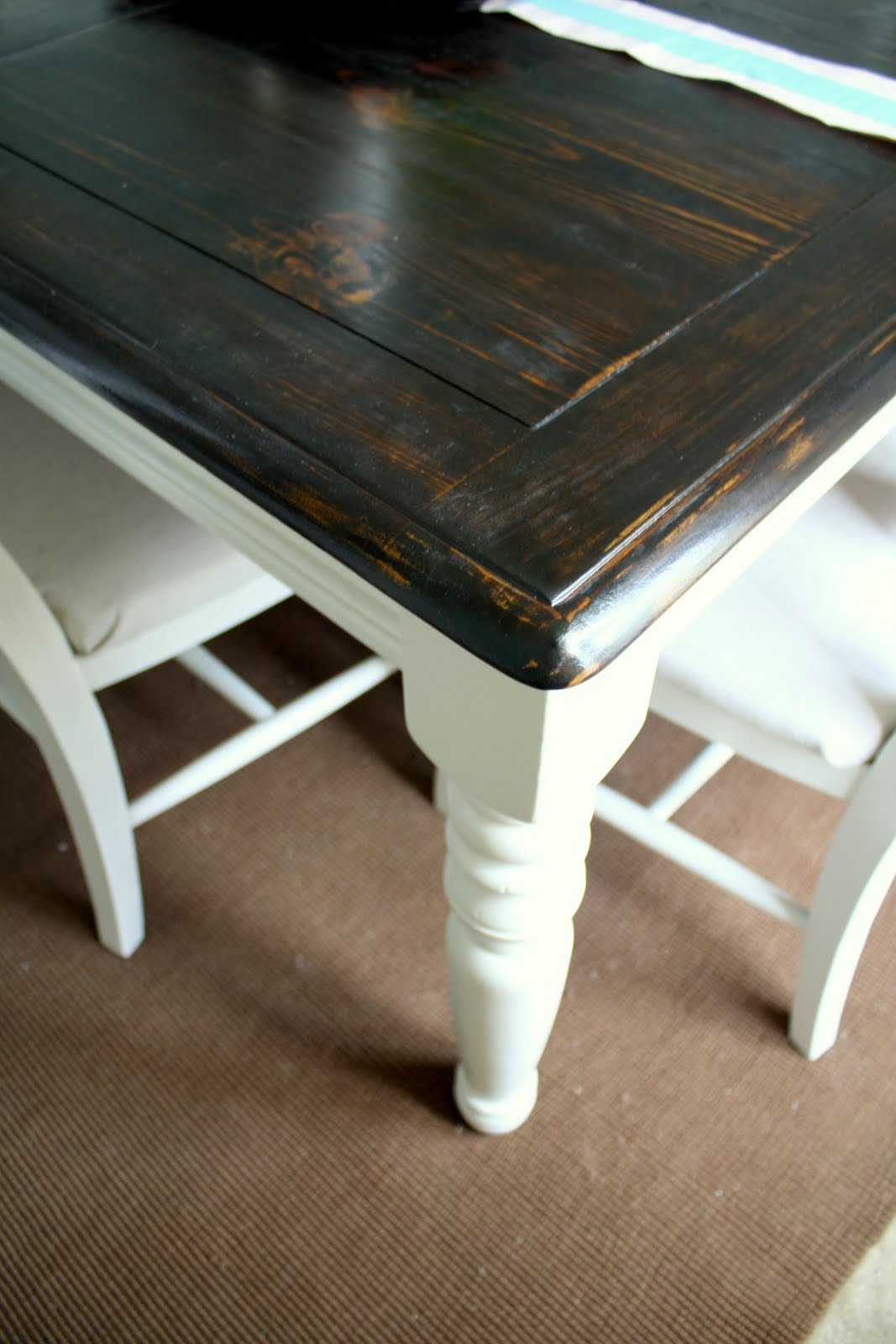 Dining table refinish dining table paint - Refinishing a kitchen table ...