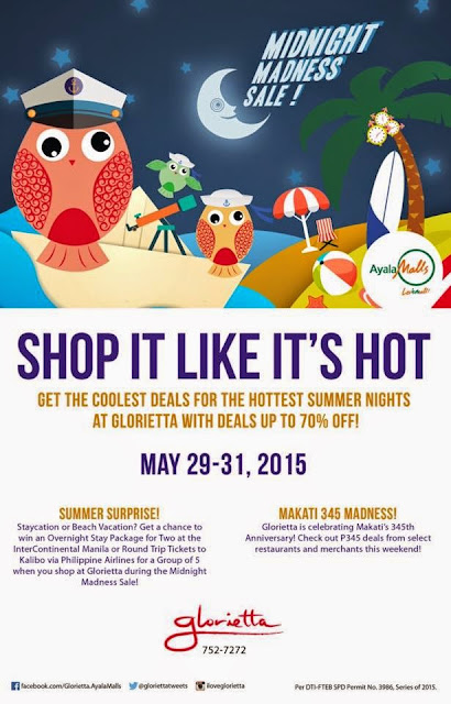 Glorietta Mall Midnight Madness Sale, sale Philippines, SUMMER SURPRISE RAFFLE PROMO