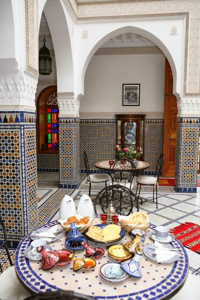 Table d'hôte à Marrakech