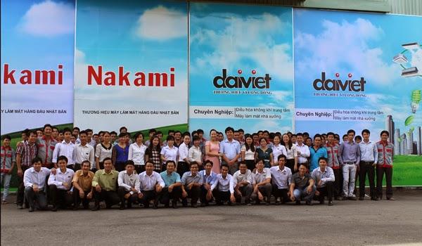 Nhân viên công ty cơ điện lạnh Đại Việt