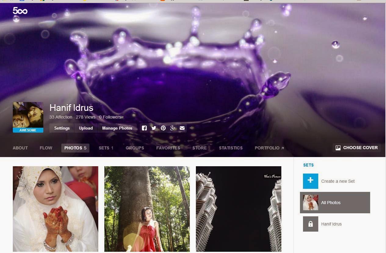 500px.com Untuk Jualan Fotografi Peribadi Anda