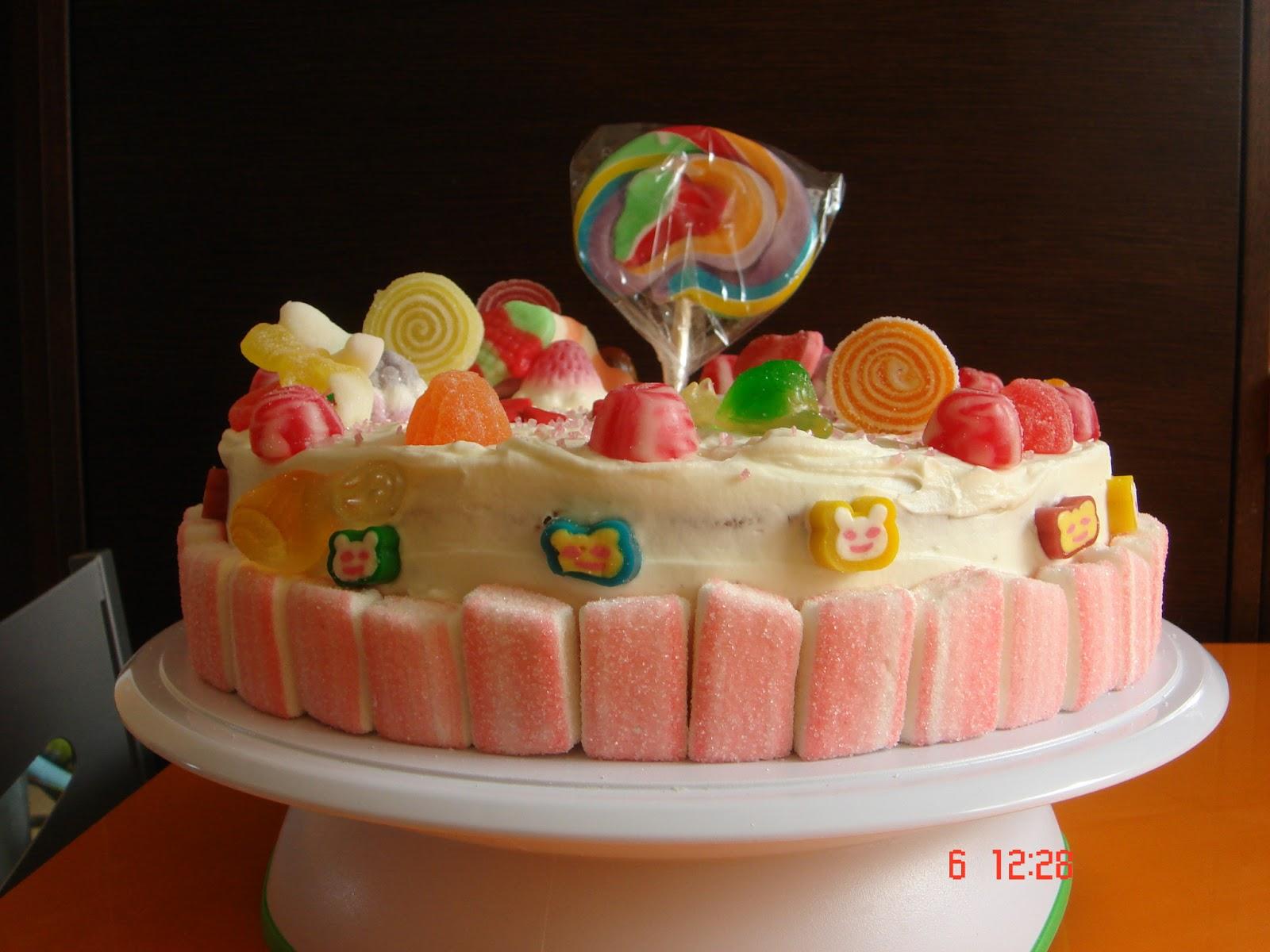 tarta con chuches