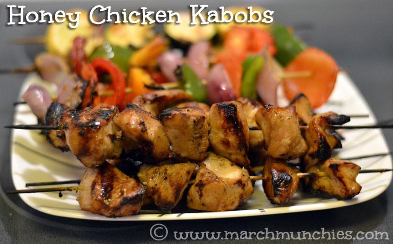 March Munchies: Honey Chicken Kabobs
