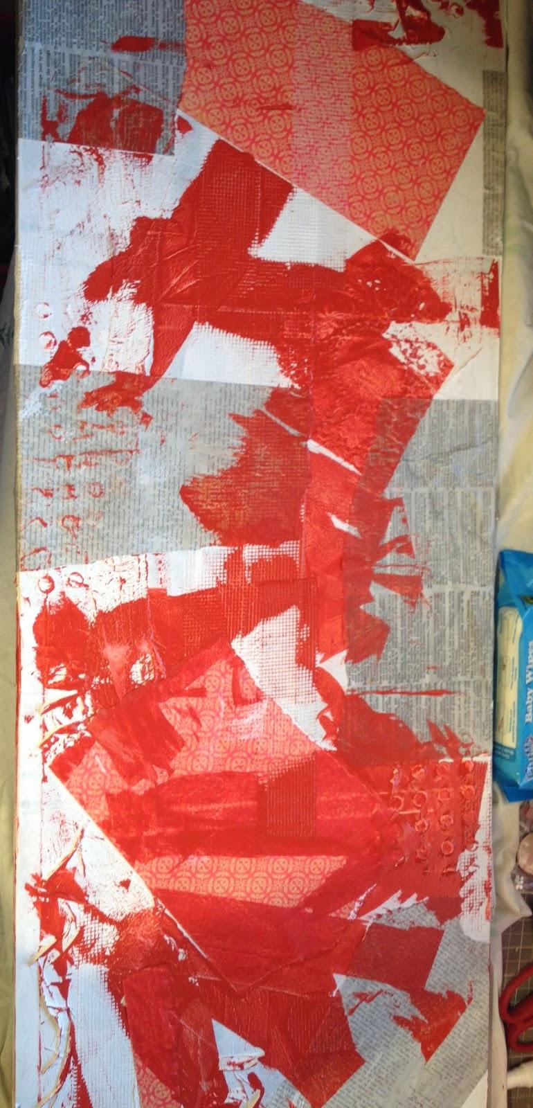 Scrap et cie qc le avant arp s d 39 une toile pas comme les autres for Peinture orange brule