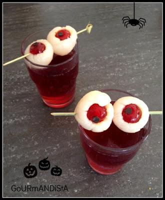 image Cocktail Halloween : sang de crapauds et oeil ensanglanté