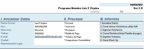 Soluciones En Excel Nomina