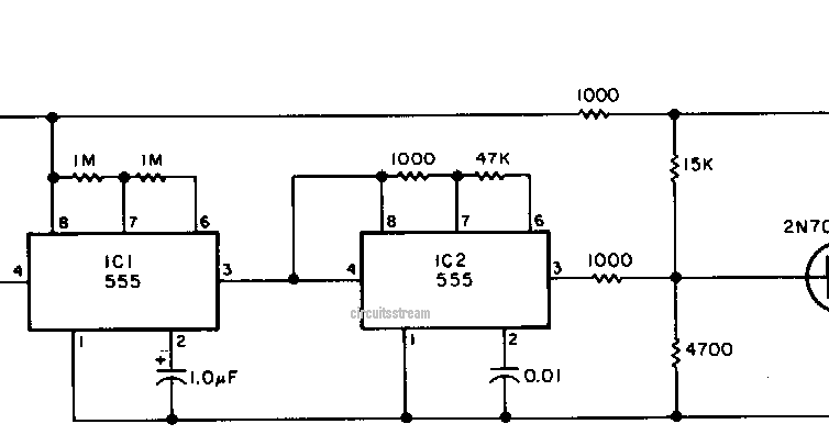 simple beacon transmitter circuit diagram