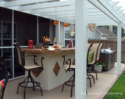 patiobbq1 Traditional ranch style home tour in Myrtle Beach, SC