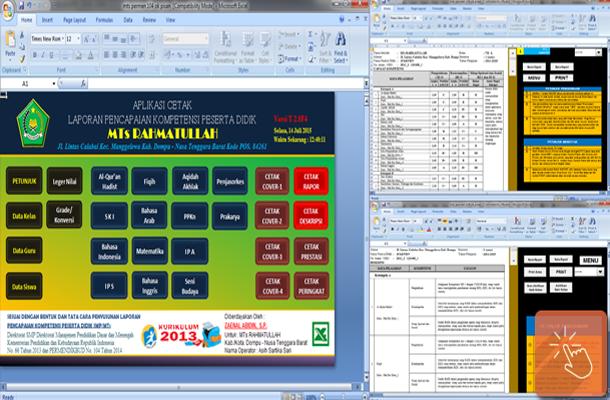 Aplikasi Raport MTs, MA dan MAK Kurikulum 2013 dengan Microsoft Excel