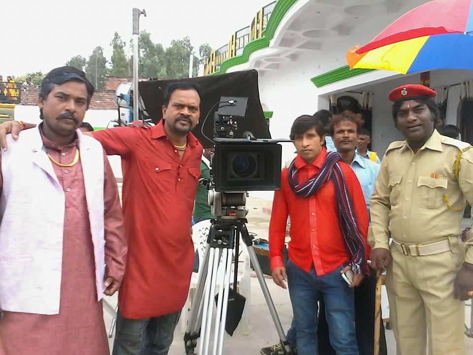 Sarkar Raj Bhojpuri Movie Shooting pic