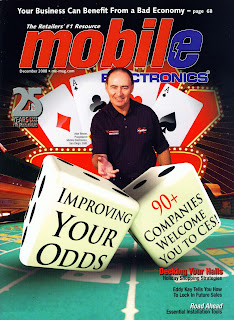 Cover image of December 2008, Mobile Electronics magazine