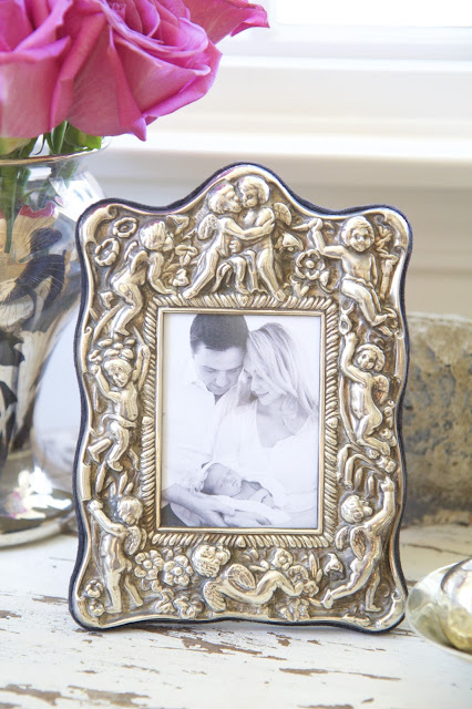 Angel frame with baby photo; Nursery in the Nest; Nora's Nest