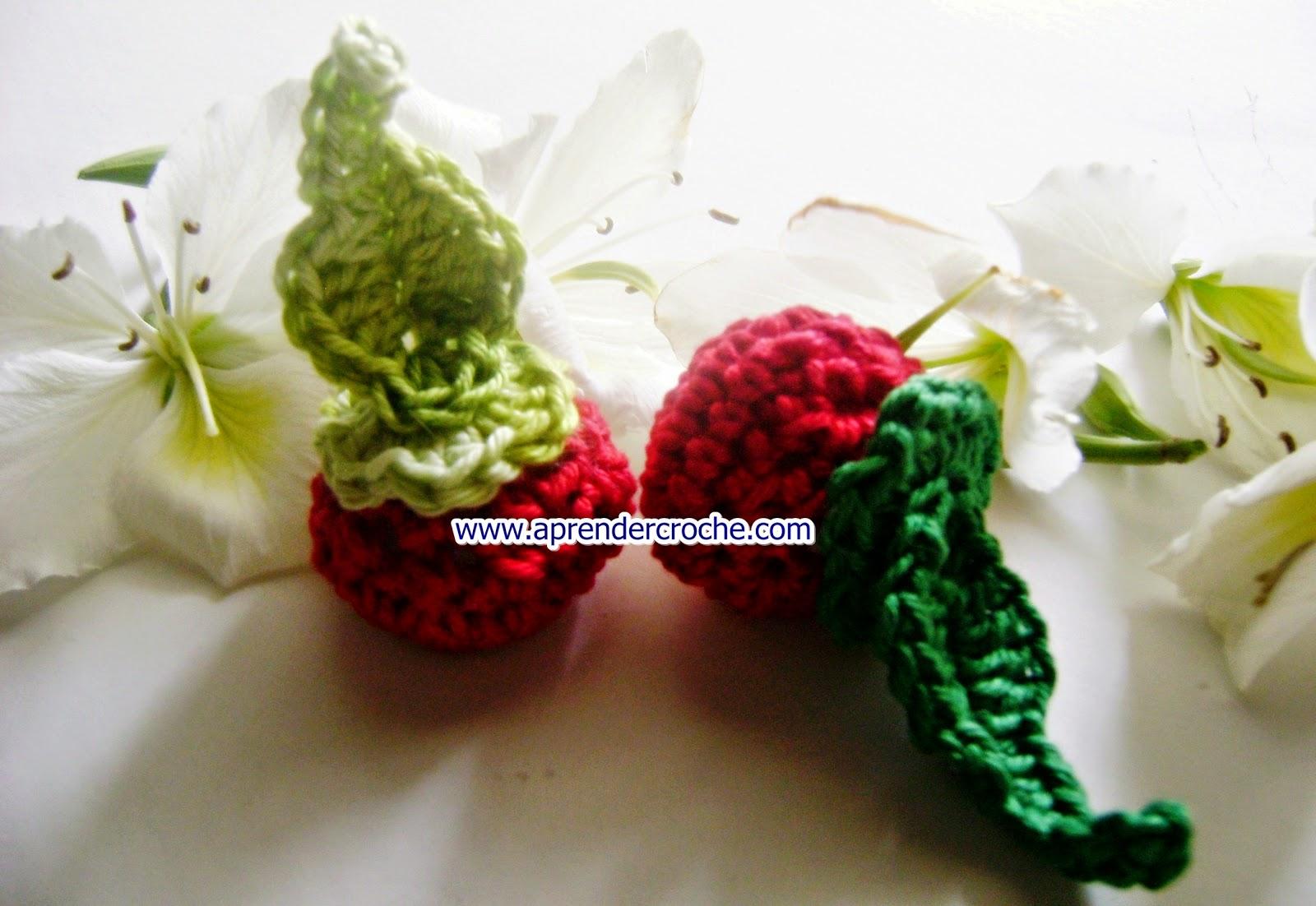 aprender croche frutas tomates legumes folhas dvd edinir-croche loja curso de croche