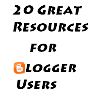 20 great resources for blogger users
