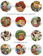 Ridem' Cowboy/Girl Cupcake Toppers