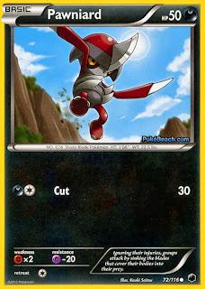 Pawniard Plasma Freeze Pokemon Card