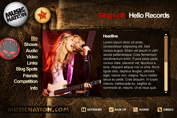 Band press kit template freeware for Music artist press release template