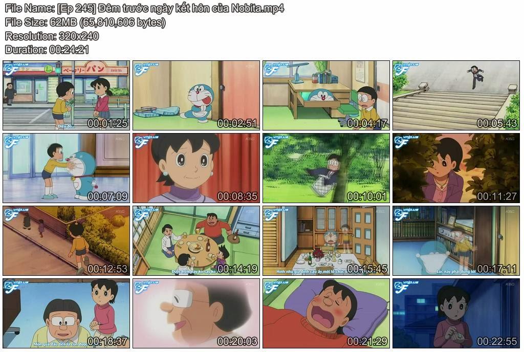 [Doraemon Ep 245] Đêm trước ngày kết hôn của Nobita