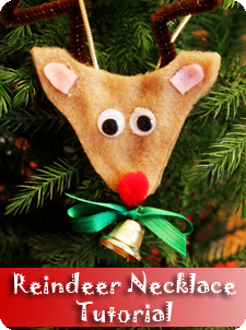 Christmas Reindeer Necklace Tutorial
