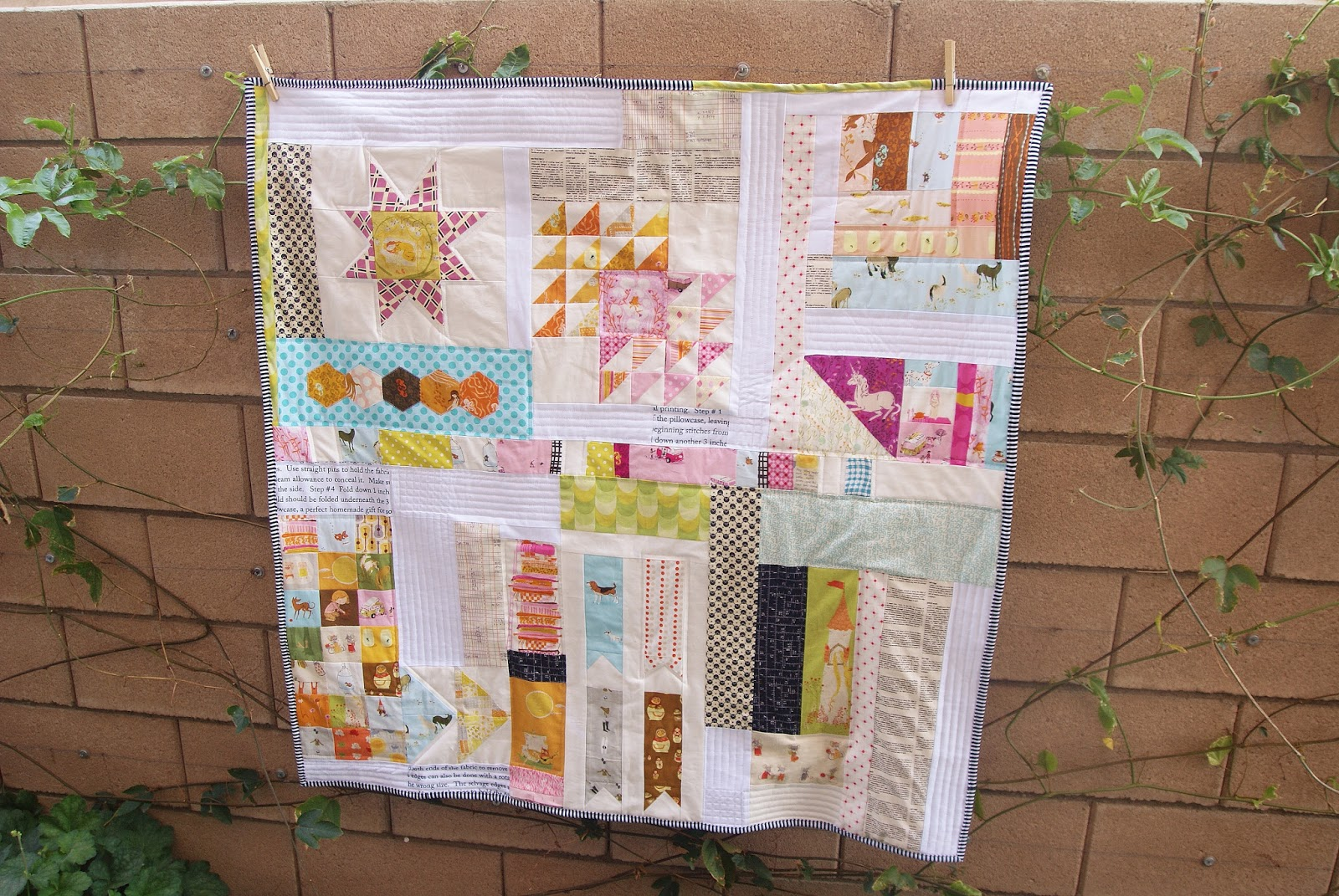 Heather Ross Improv Quilt by Heidi Staples of Fabric Mutt