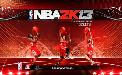 NBA 2K13 Houston Rockets Start up Screen Mod
